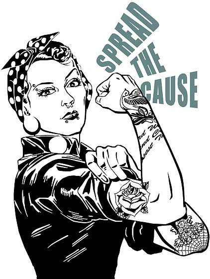 tattooed and employed, girls with gauges, tattoos in the workplace, stapaw, rosie the riveter