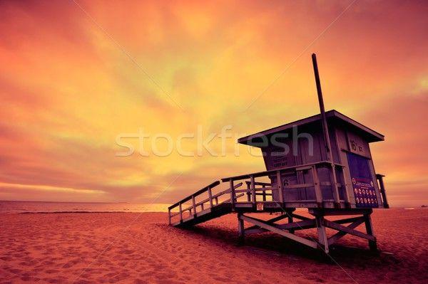 Lifeguard Tower At Sunset At Hermosa Beach California Stock Photo C Asturianu 8553303 Stockfre Hermosa Beach Lifeguard Tower Manhattan Beach California