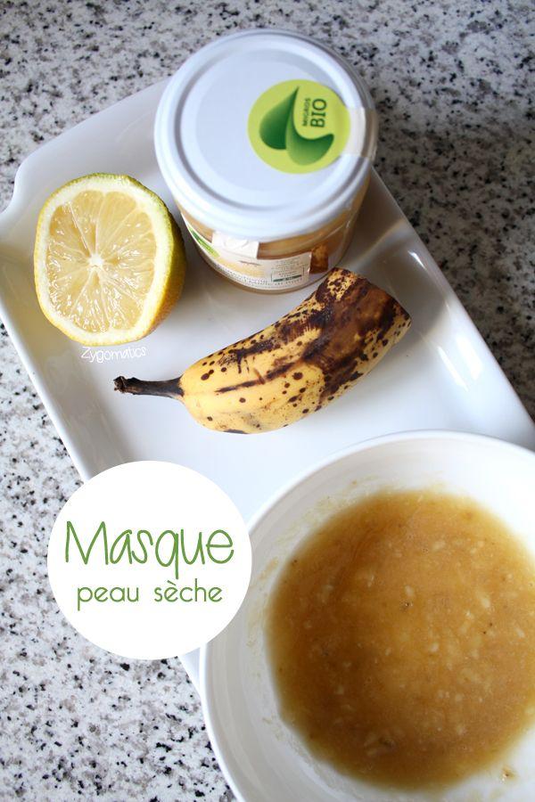 Masque peau sèche : 1/2 banane mûre 2 cc de miel 1 cc de citron Écrasez la banane à l'aide d'une fourchette. Ajoutez 2 cuillères à café de miel et mélanger. Ajoutez 1 cuillère à café de citron et mélanger le tout. Appliquez la préparation sur le visage nettoyé en évitant le contour des yeux. Laissez agir le masque durant environ 15 minutes. Rincez abondamment à l'eau tiède. Et voilà, vous avez la peau toute douce pour bien commencer la semaine!