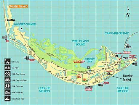 Sanibel Beach Florida Map.Map Of Sanibel Island Florida Park Ideas
