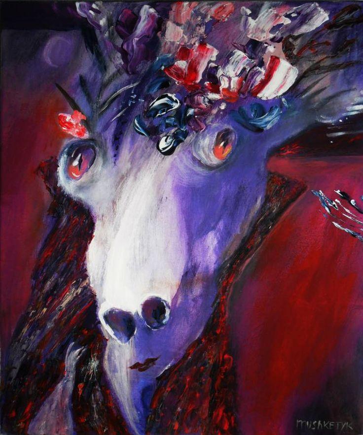 """Saatchi Art Artist Oksana Mushketyk; Painting, """"Purple thoughts"""" #art"""
