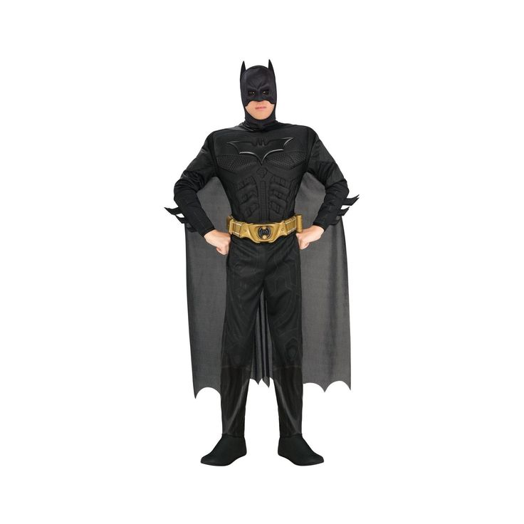 Halloween Men's Batman The Dark Knight Rises Muscle Chest Deluxe Costume X-Large, Size: XL, Black