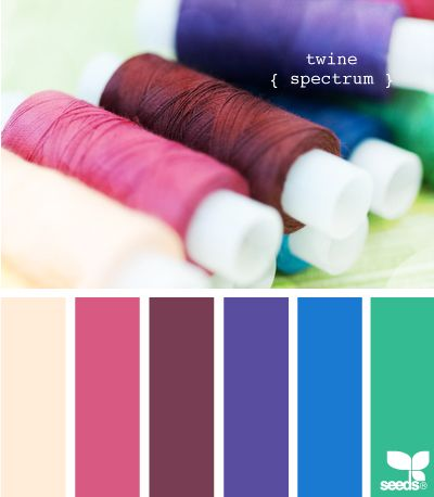 twine spectrum. This site has lots of great color combinations, and a table where you can pick by color value, or by theme.