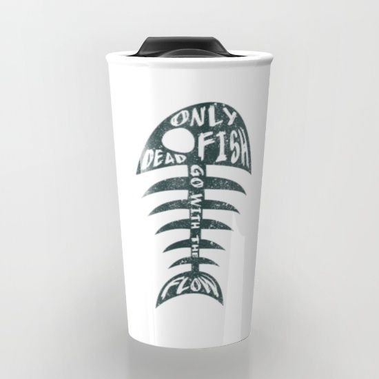 Buy Dead Fish Travel Mug by ongadesign. Worldwide shipping available at Society6.com. Just one of millions of high quality products available.