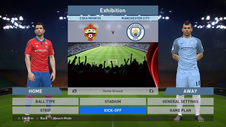 CSKA Moskva vs Manchester city, VEB Arena, PES 2016, PRO EVOLUTION SOCCER 2016, Konami, PC GAMEPLAY, PCGAMEPLAY