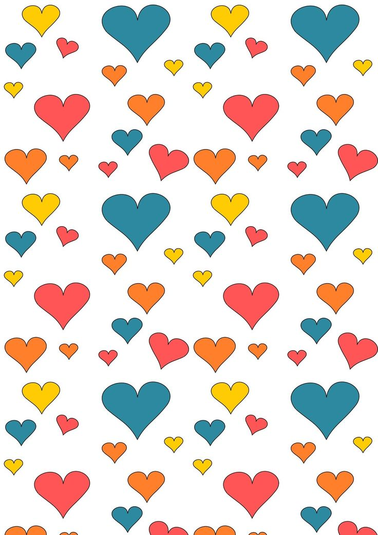 FREE printable heart pattern paper ^^ | cute heart wrapping paper