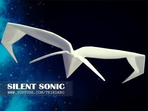 MELHORES aviões de papel - Como fazer um avião de papel que voa | Silent Sonic - YouTube