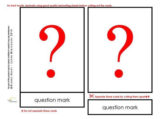 Montessori Curriculum  Language: Punctuation by LearnMontessori