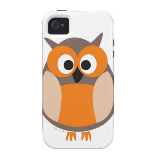 Funny staring owl Case-Mate iPhone 4 case