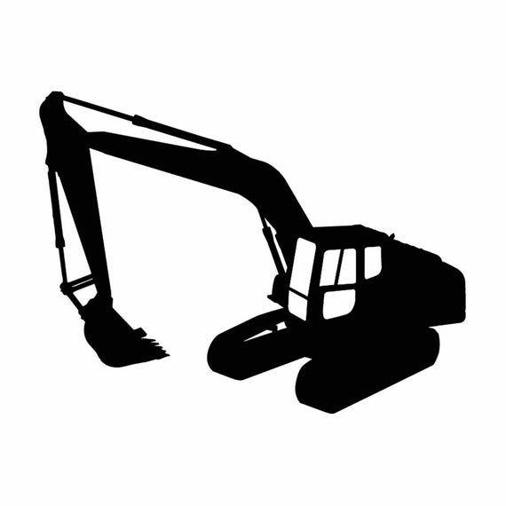 Excavator Heavy Equipment Construction Vehicle 1 Vector Eps Svg