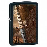 Zapalniczka Zippo Ancient Sword, Black Matte