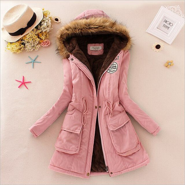 Winter women coat Women's Parka Casual Outwear Military Hooded fur Coat Down Jackets Winter Coat for Female CC001 Like and Share if you want this Get it here