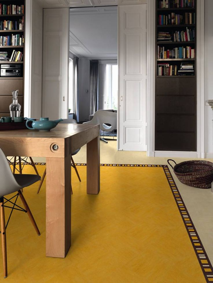 The lino of beauty linoleum can be more chic and arty for Colourful lino flooring