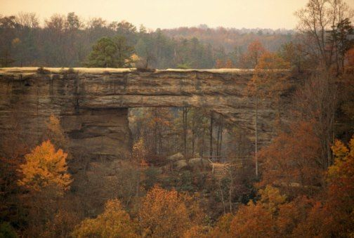 Natural Bridge State Park in Kentucky features the stunning sandstone arch that is at least 1 million years old!