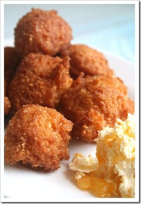 Southern Style Hushpuppies. This site has all of the recipes in .pdf format for easy downloading, review and save! Just click recipe pic and VOILA! #southern