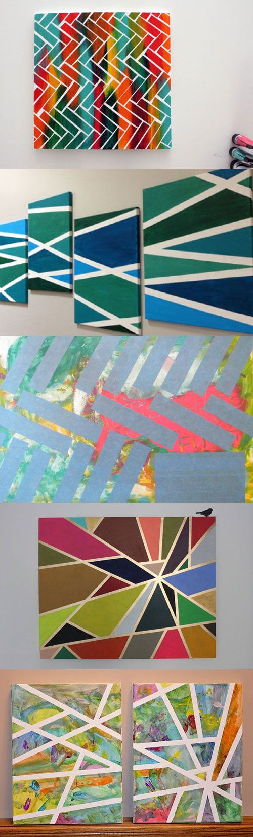 cool tape painting ideas