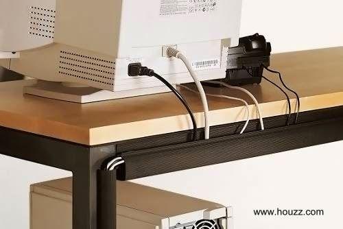 Idea práctica para ocultar y ordenar los cables en el hogar