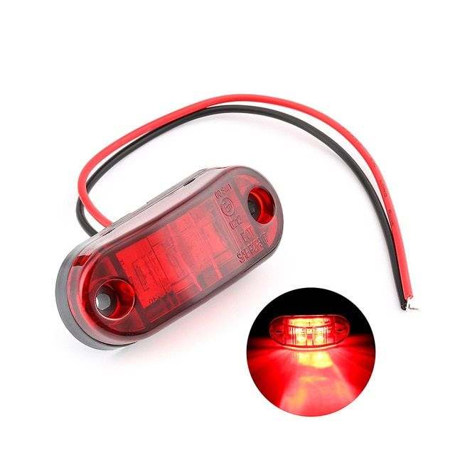 1pc 24v 12v Amber Led Side Marker Lights For Trucks Side Clearance Marker Light Clearance Lamp 12v Red White For Trailer Review Red And White Trucks Light