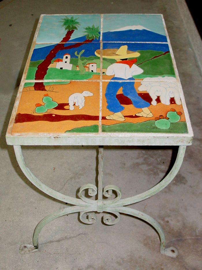 San Jose Pottery Tile Table