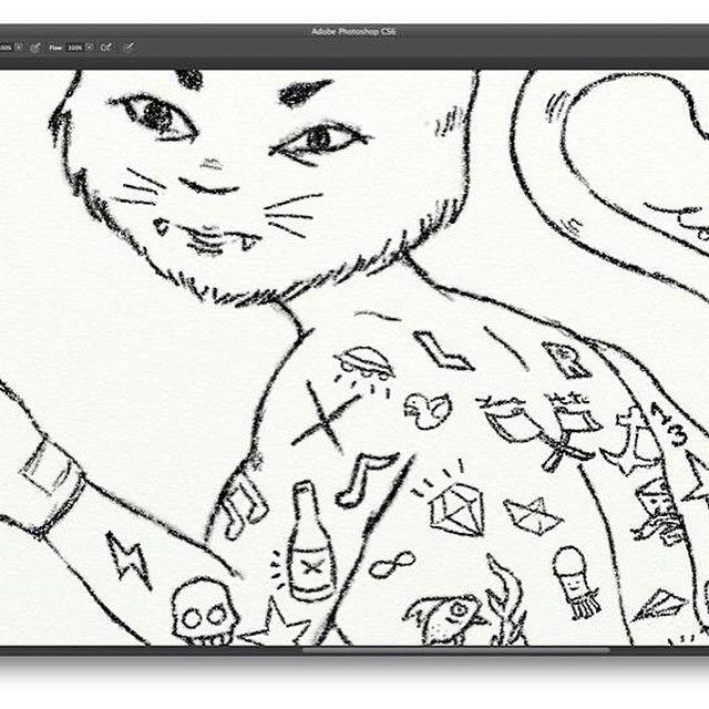 Sketch Gypsy Cat