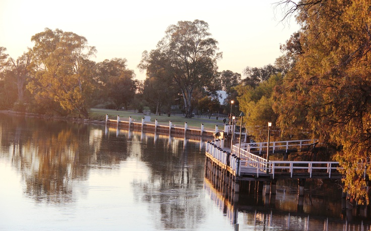 Mildura Wharf..Sunrise..Vic,Aust