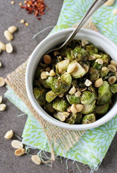 Honey Roasted Brussels Sprouts with Peanuts – #brussels #honey #peanuts #roasted…   – fall recipe
