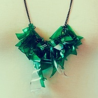 love this #upcycled necklace made of plastic bottles