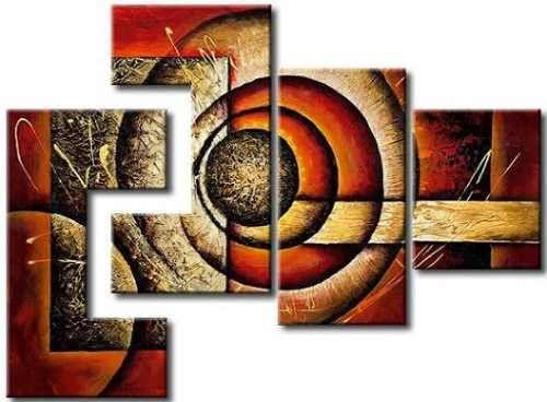Cuadros abstractos modernos polipticos decorativos for Cuadros decorativos modernos
