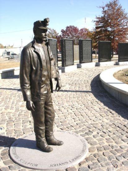 Miners' Memorial in Pittsburg, Kansas