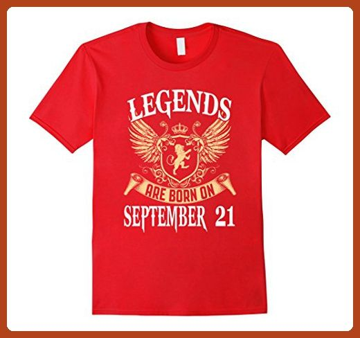 Mens Legends Are Born On September 21 Birthday T-shirts Gift Large Red - Birthday shirts (*Partner-Link)