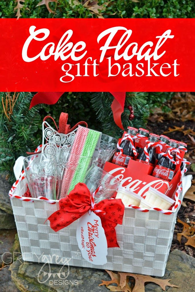Coca Cola Float Gift Basket for Neighbors and Friends #ad #realmagic #greygreydesigns