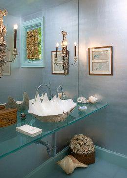 Project 7 - eclectic - powder room - santa barbara - Giffin & Crane General Contractors, Inc.