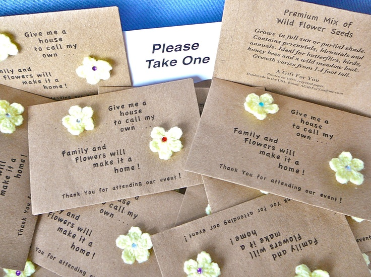 Open House Wild Flower Seed Packets