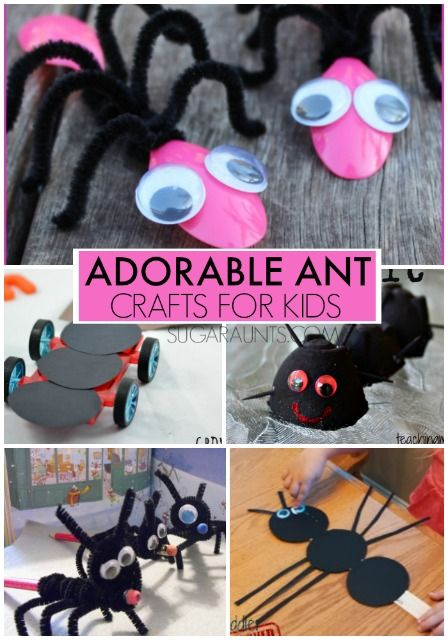 Adorable ant crafts for kids. These are great for an ant theme.