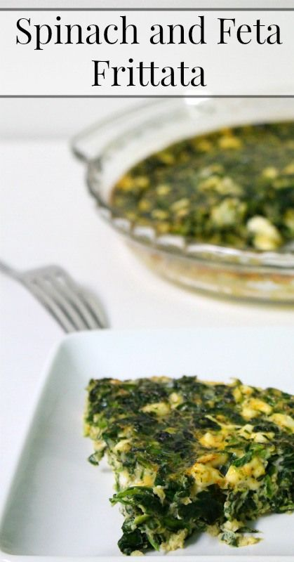 Spinach and Feta Frittata {Primal, Traditional Foods, Real Food, Vegetarian, Breakfast recipe, Dinner recipe}