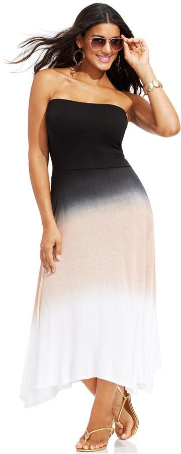 Plus Size Ombre Cover-Up Dress