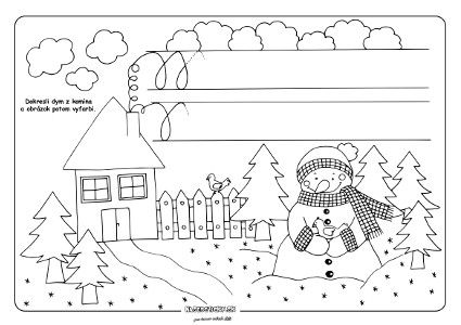Kreslíme dym - grafomotorika - Aktivity pre deti, pracovné listy, online testy a iné