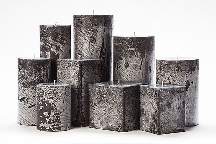 Black Frosted Pillar Candles Home Decor Pinterest