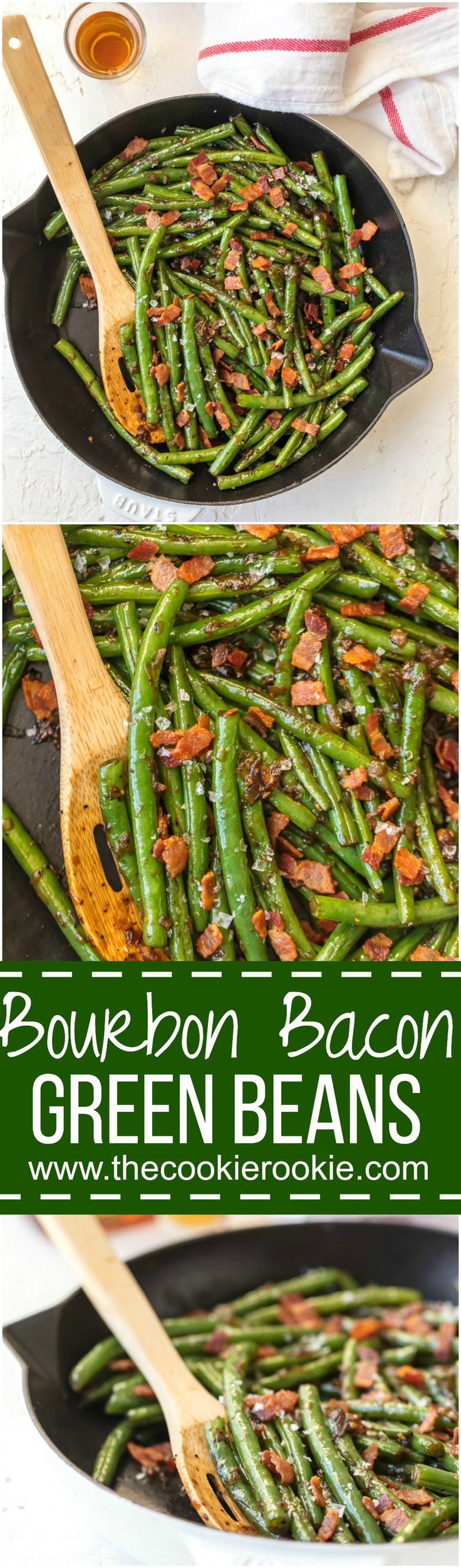 Skillet Bourbon Bacon Green Beans | The Cookie Rookie | Bloglovin'