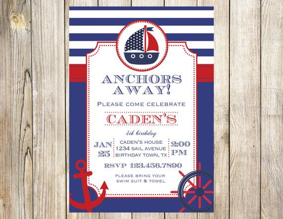 nautical sailor birthday party invitation by emmyjosparties 12 00