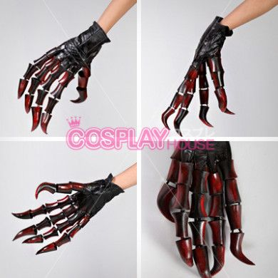 Black Rock Shooter Cosplay Prop -- Black Gold Saw Horns and Claws Version 01