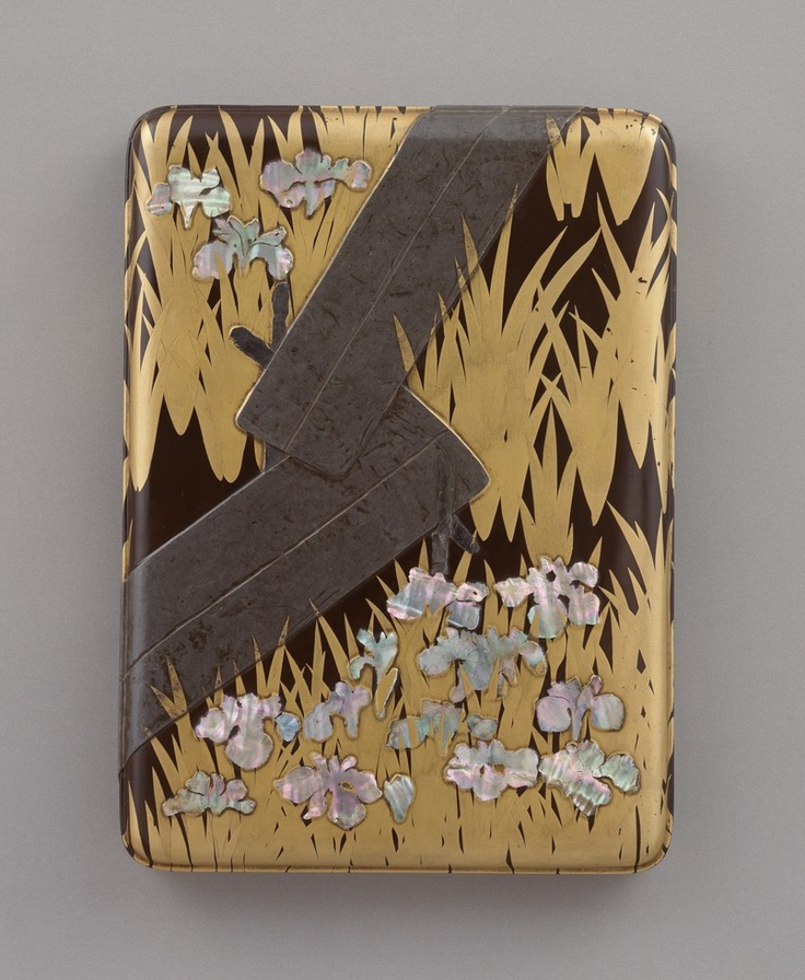 Ntional Treasure of Japan, writing box with eight bridges by OGATA Kourin / Edo period (18th century) 八橋蒔絵螺鈿硯箱 尾形光琳作 国宝