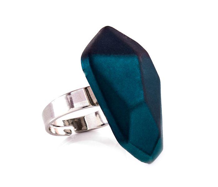 Bizsu Gyűrűk Marezzi ezüst zöld