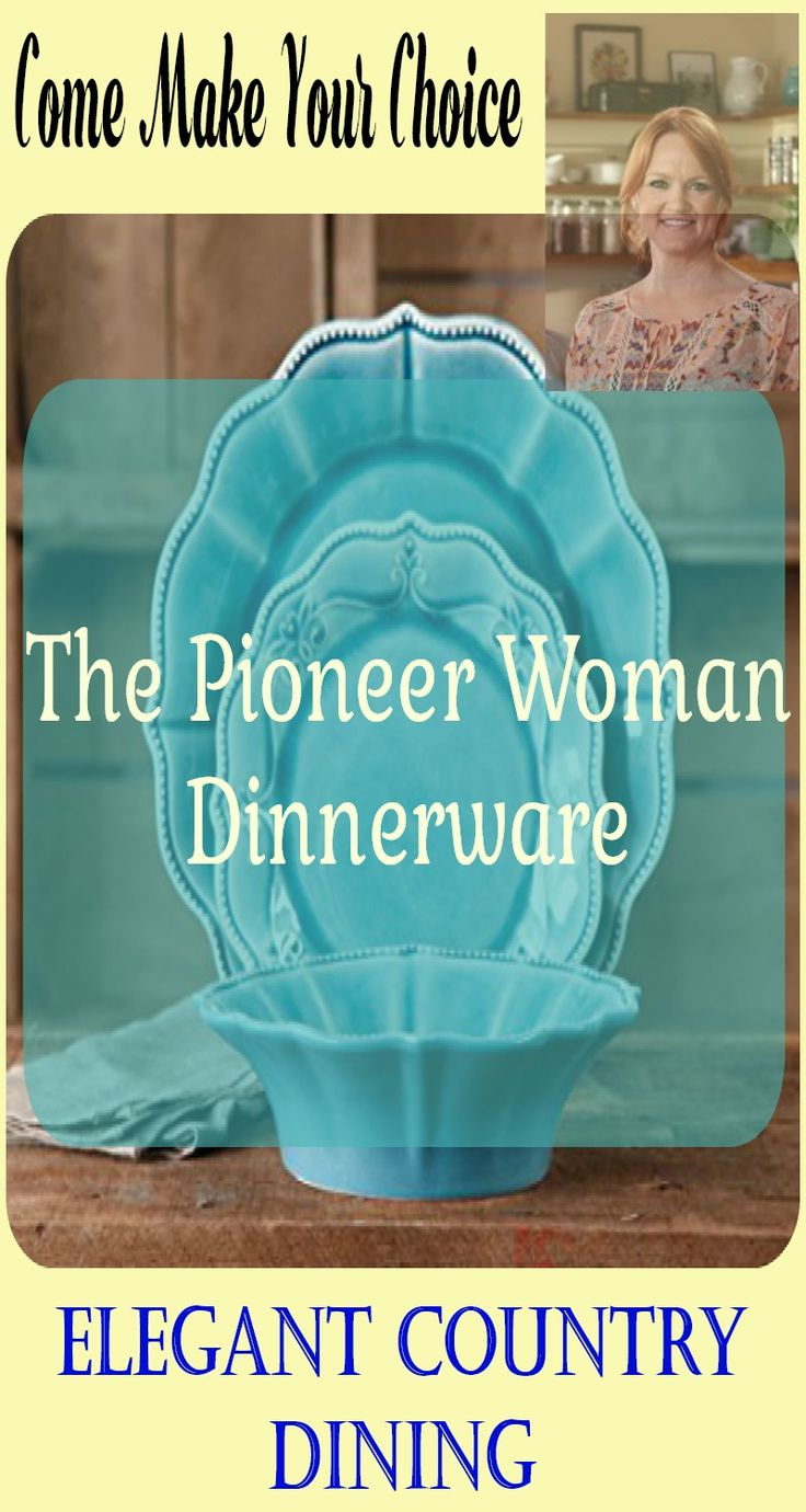 The Pioneer Woman dinnerware is elegant country dinning at its best. Ree Drummond makes a quality product that is beautiful and fun to use and will last a lifetime. Beautiful popular choices, priced right.