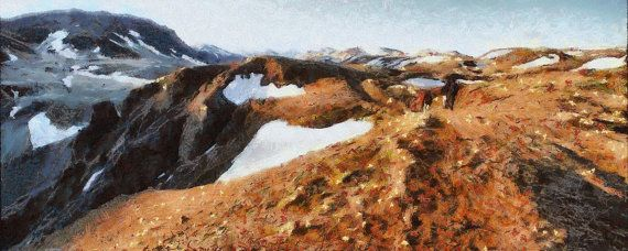 Hveragerdi Mountains Iceland  panorama canvas print by ArtbyOlafur, $78.00