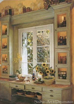 Provence kitchen french and google on pinterest - Country kitchen windows ...