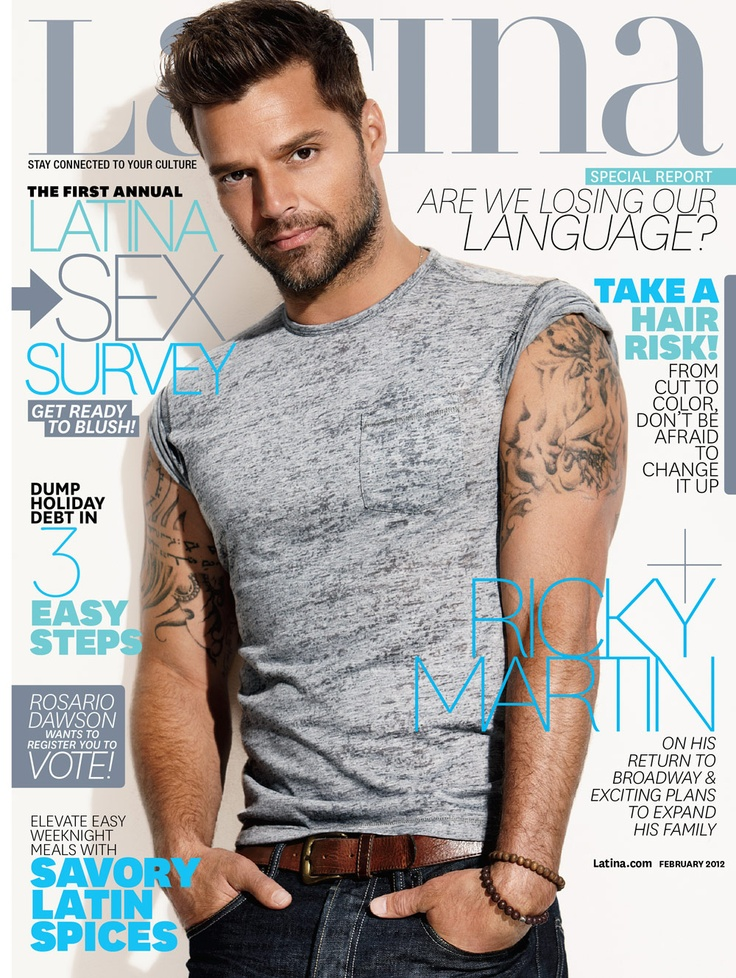Ricky Martin Latina Magazine February 2012 cover. For more hottness, go behind-the-scenes: http://www.youtube.com/watch?v=0GX25aKCKfM