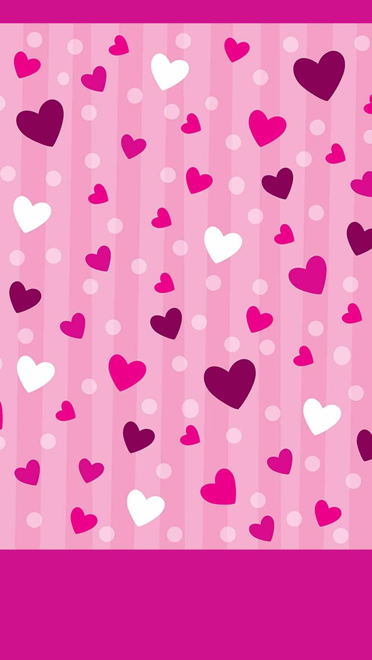 Pretty Pink Hearts Wallpaper | www.pixshark.com - Images ...