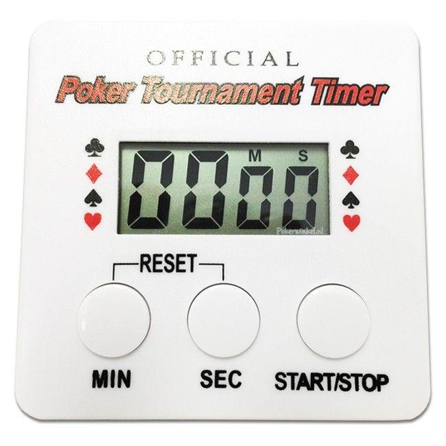 Deze poker toernooi timer is een geweldig handige accessoires voor pokeraars die regelmatig thuis live pokeren met vrienden en familie. Het gebruik van deze pokertoernooi klok tijdens je wekelijkse home game is zeer eenvoudig!