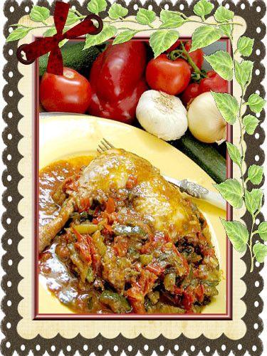 recettes en mijoteuse -poulet basquaise